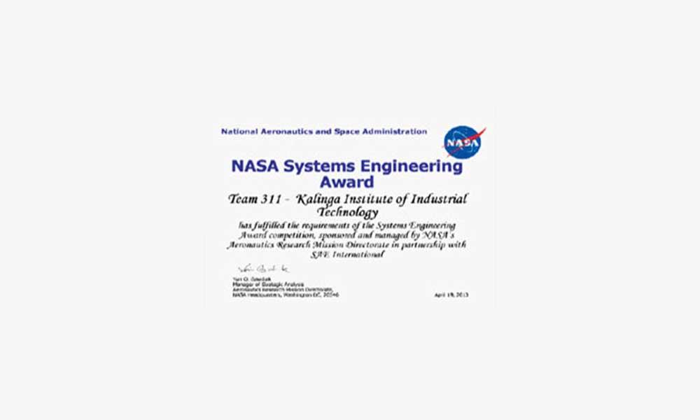 NASA-System-Engineering-Award